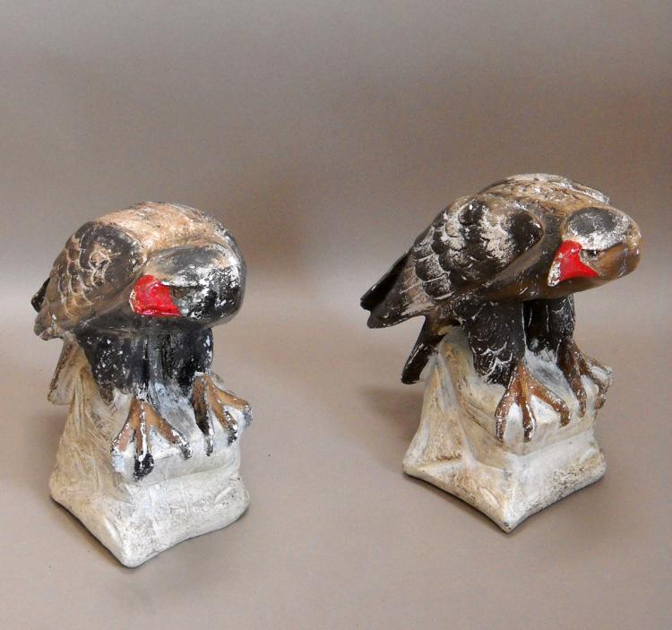 Pair of Plaster Eagles
