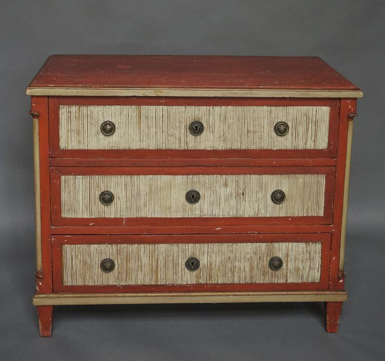 Swedish Neoclassical Chest of Drawers in Old Paint