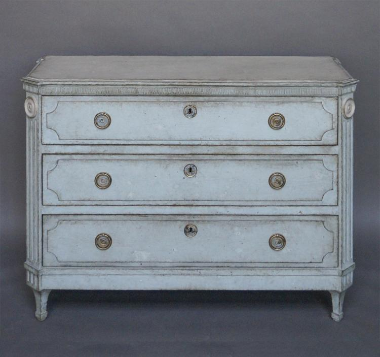 Swedish Three Drawer Chest