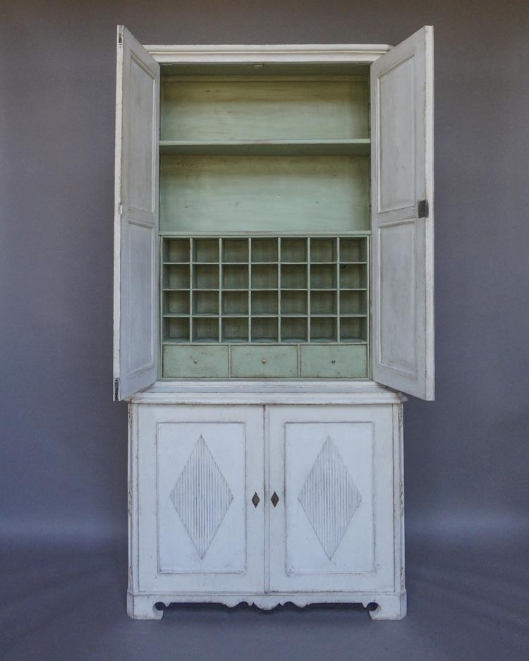 Unusual Two Part Swedish Cabinet