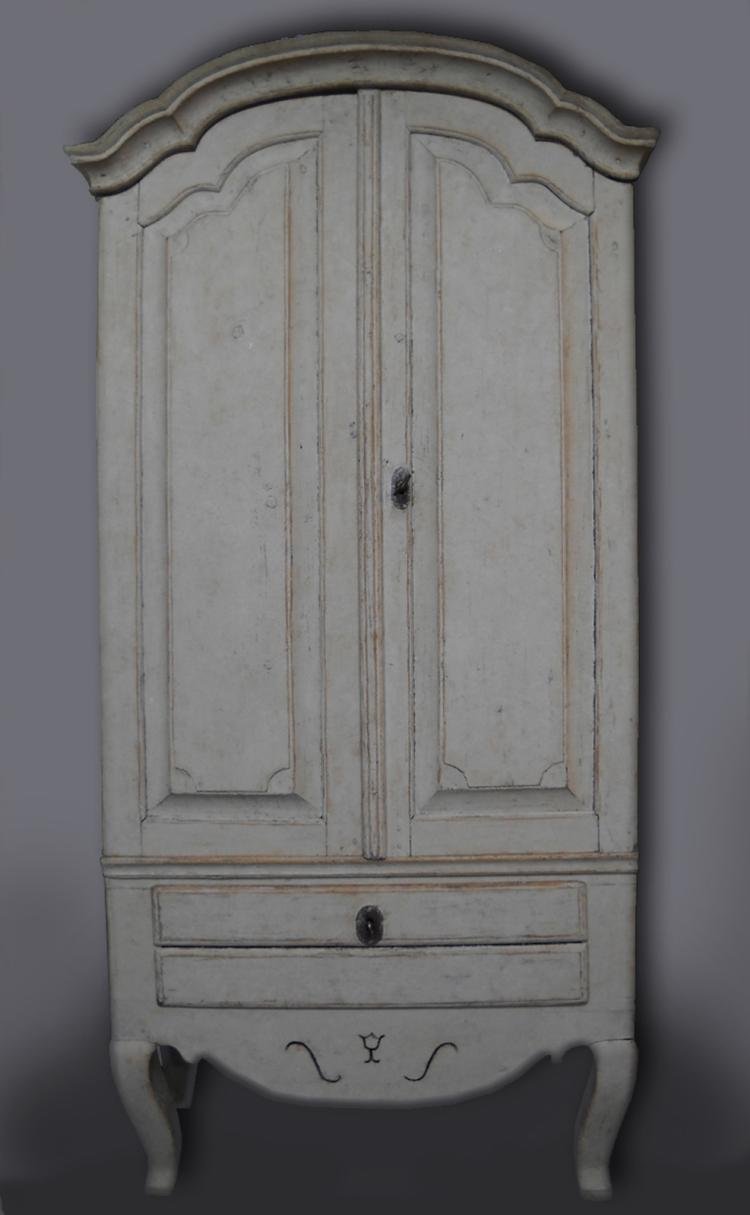Small Swedish Rococo Cabinet with Drawer