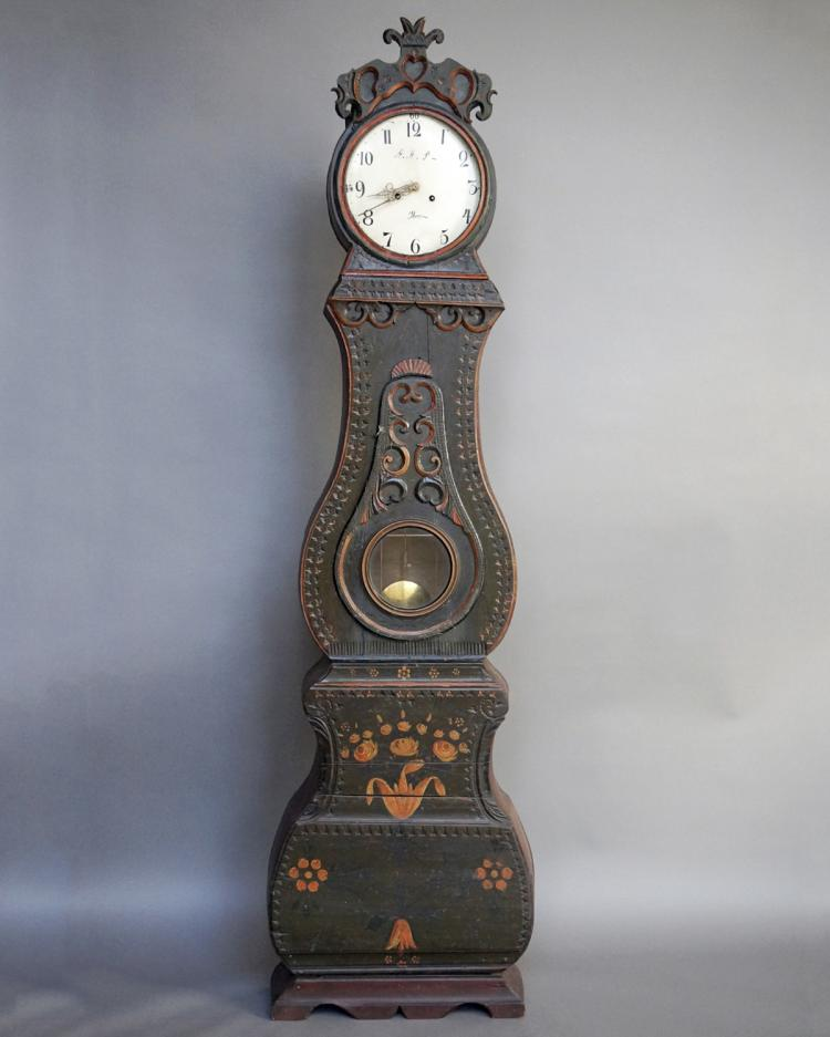 Mora Clock with Original Decorative Paint