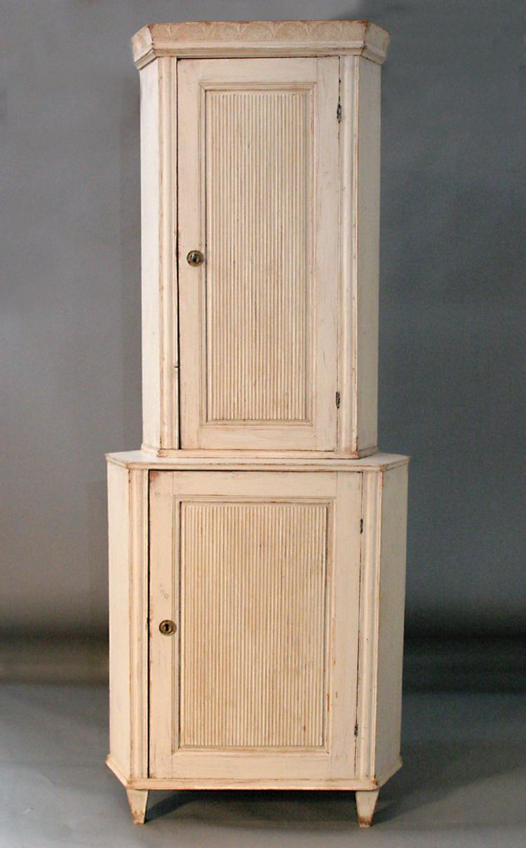 Swedish Period Late Gustavian Corner Cabinet