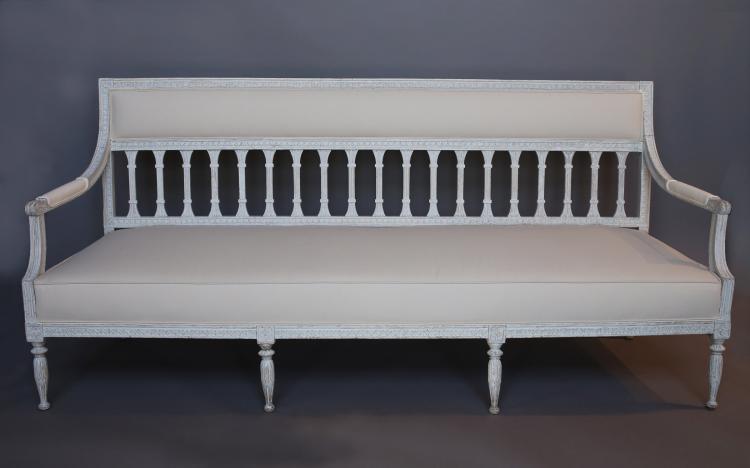 Period Gustavian Sofa Bench