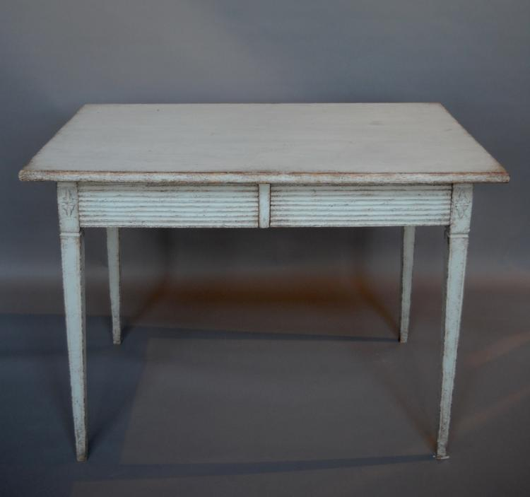 Gustavian Side Table with Two Drawers