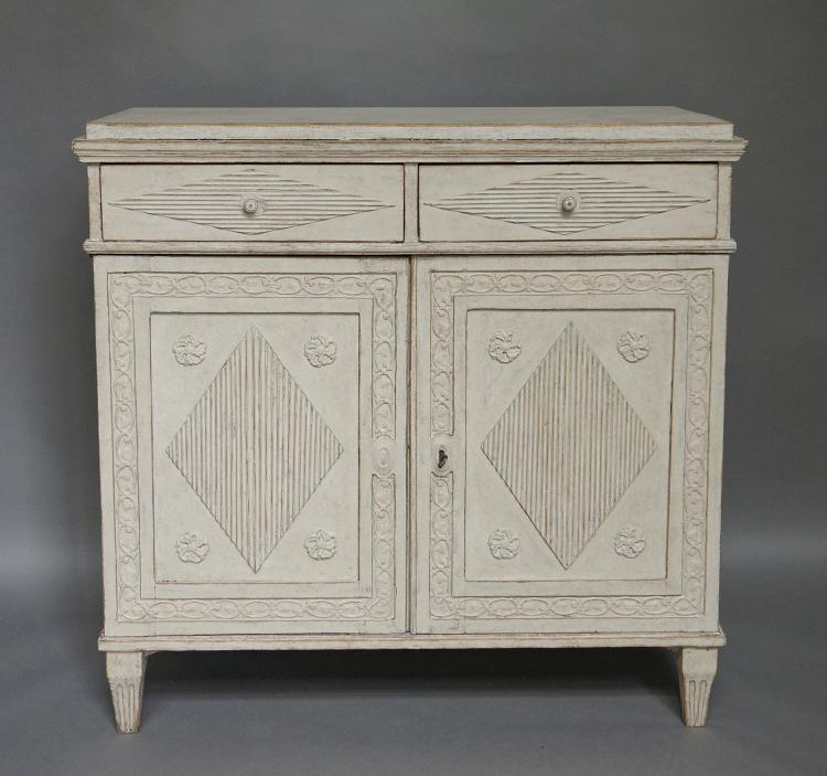 Beautifully Carved Period Gustavian Sideboard