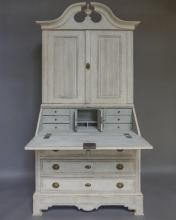 Period Neoclassical Secretary with Split Cornice