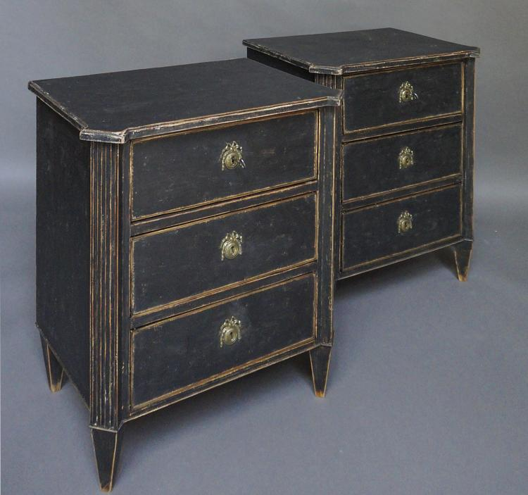Pair of Gustavian Style Swedish Commodes