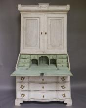 Transitional Swedish Rococo Secretary