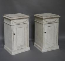 Pair of Neoclassical Style Half Cabinets