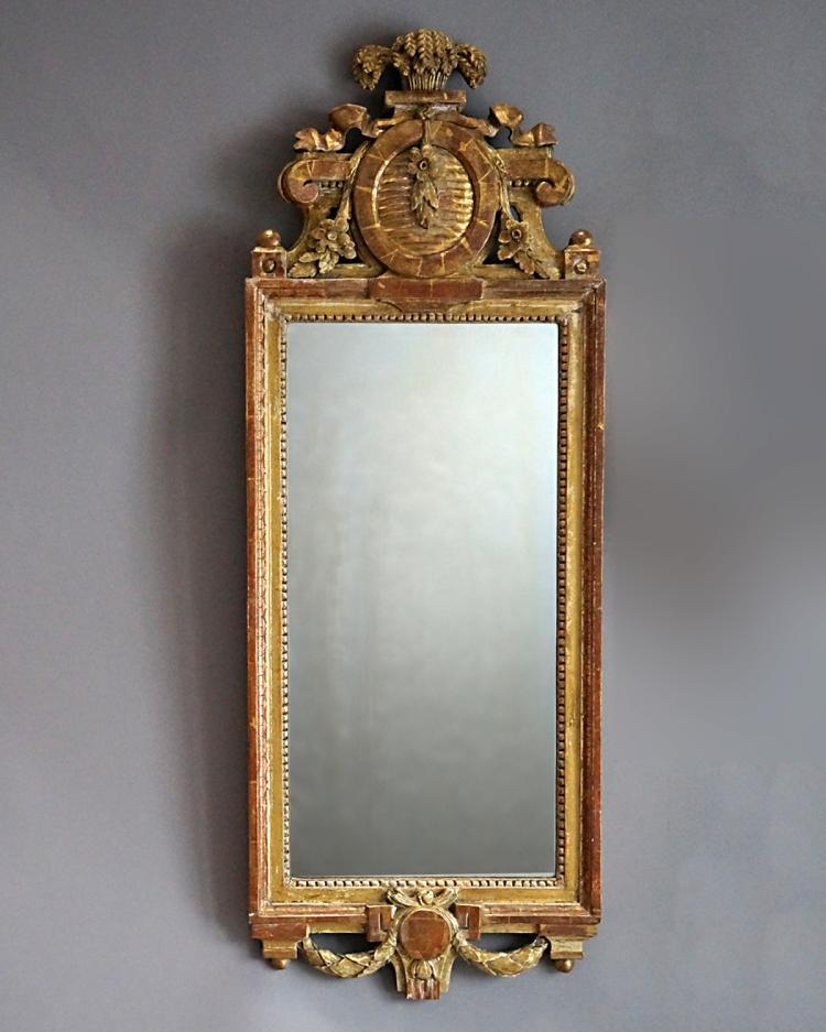 Period Gustavian Mirror by Johan Kerblad