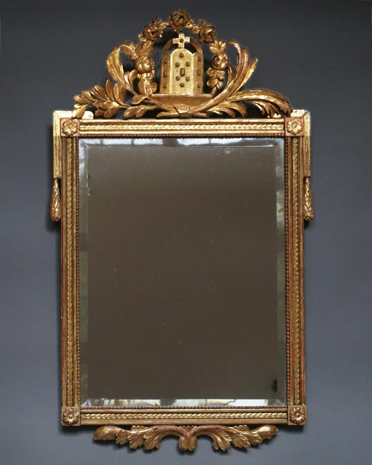 Early Gilded Danish Mirror