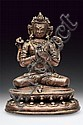 An outstanding figure of Manjusri of copper alloy