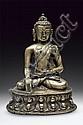 A bronze figure of Budhha Shakyamuni