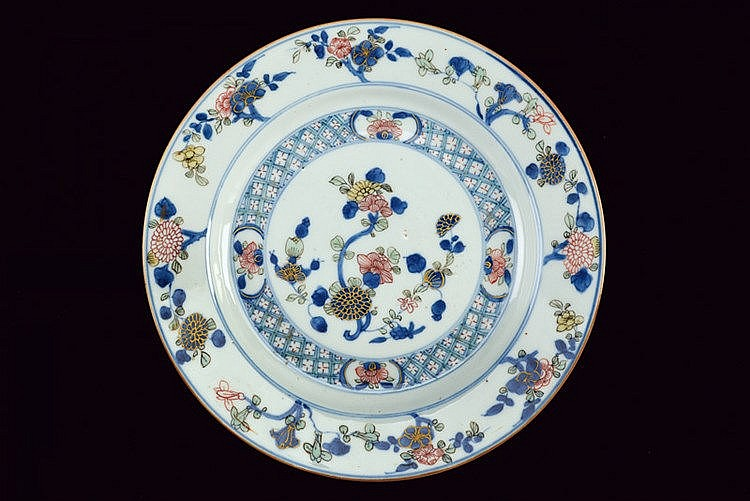 A fine Doucai porcelain plate for exportation