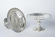 A fine pair of silver high footed bowls