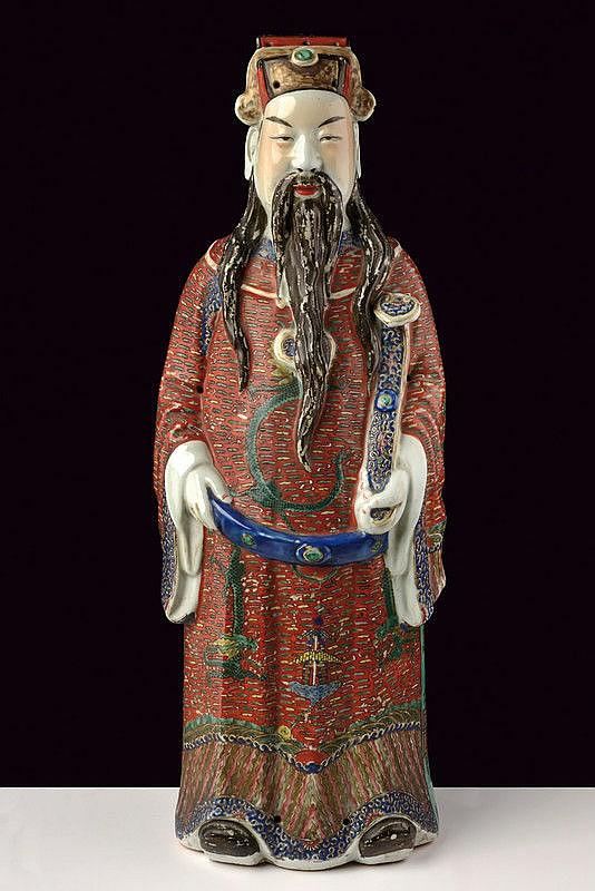 A big porcelain figure