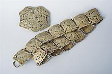 A fine pierced silver belt