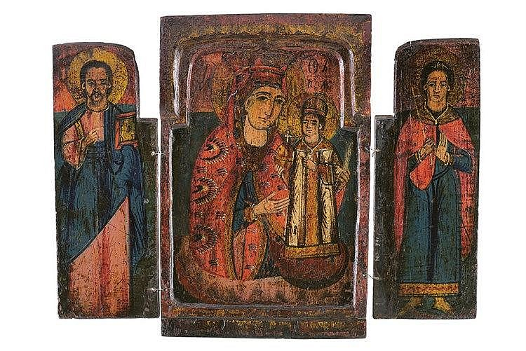 Triptych with the Mother of God