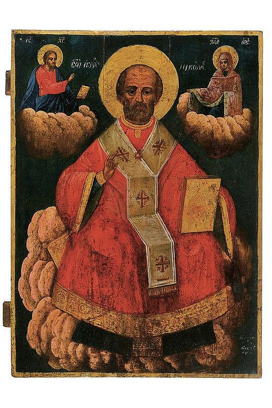 St. Nicholas enthroned