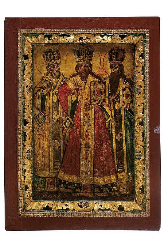 The three patriarchs Gregory the Great, Basil the Great, John Chrysostom
