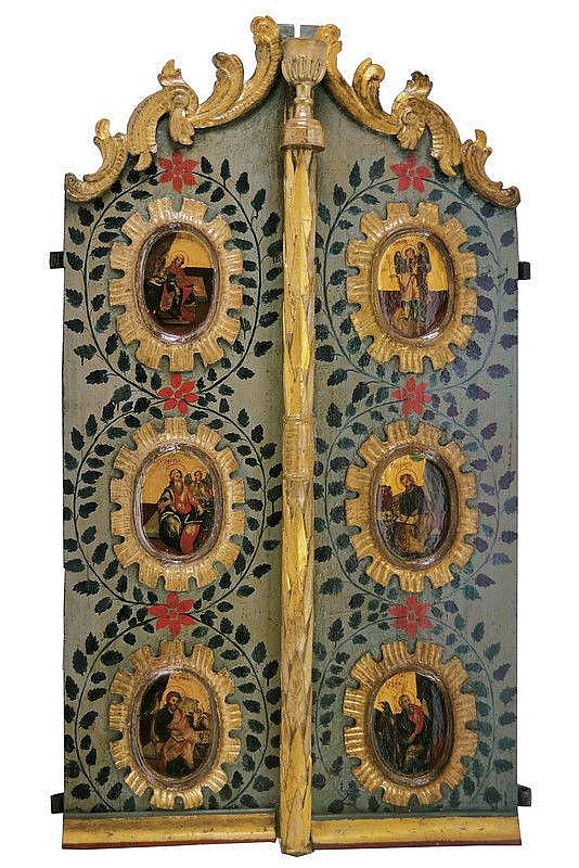 Door with Annunciation and the four evangelists