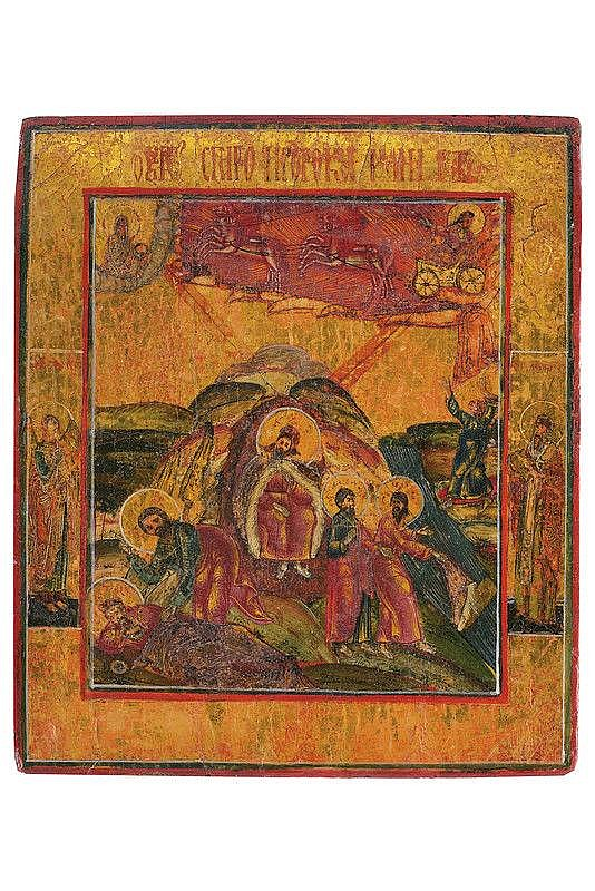 Flaming rise of the prophet Elijah