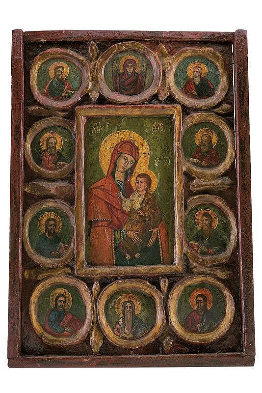 Mother of God Hodegetria with ten Saints and Prophets