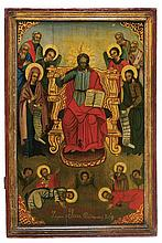 Christ enthroned with the Deesis