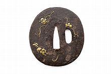 A tsuba, dating: 19th Century, provenance: Japan,