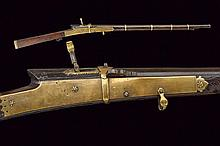 An elegant match lock gun for a boy, dating: 18th/