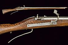 A matchlock rifle of an arsenal, dating: 17th Cent