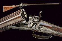 A fine double barrelled breech loading gun by S. G