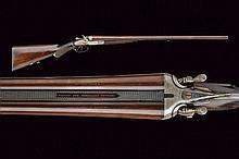 A double barrelled breech loading gun by ALFRED FI