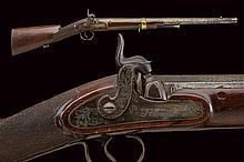 An interesting percussion blunderbuss gun by P. Tr
