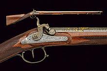 A percussion hunting gun with fantastic ottoman ba