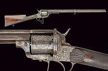 A Lefaucheux revolving rifle, dating: about 1870,