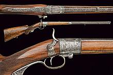 A Beringer system breech loading percussion rifle