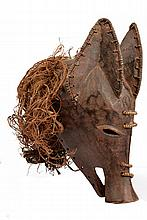 An unusual Tribal wooden pig mask, dating: 19th Ce
