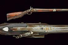 A silver mounted percussion gun, dating: second qu