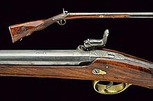 A percussion gun, dating: Mid 19th Century, proven
