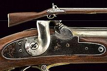 A Lowell percussion gun, dating: Mid 19th Century,