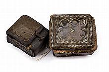 A lot of two cartridge boxes, dating: 19th Century