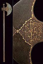 An axe with inscriptions, dating: 19th Century, pr