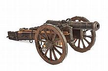 A fine cannon model, dating: 19th Century, provena