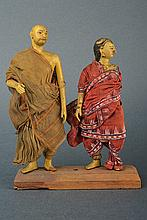 A lot of two dolls, dating: 19th Century, provenan