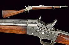 A Remington falling block carbine, dating: about 1