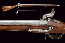 A percussion gun with bayonet, dating: second quar