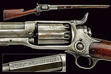 A Colt Model 1855 Revolving Carbine, dating: third
