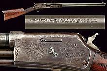 An engraved Colt Lightning Slide Action, Medium Fr